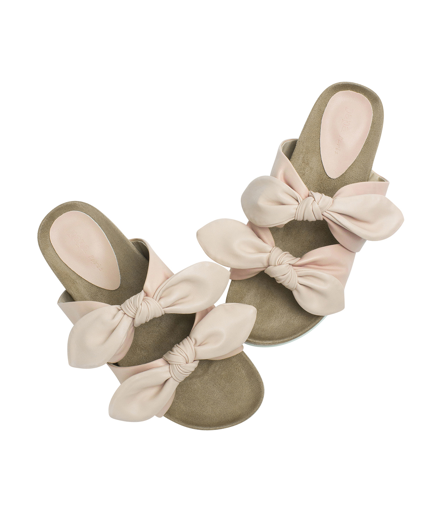 ca610730e AnnaKastle Womens Double Knotted Bow Slide Sandals Pink