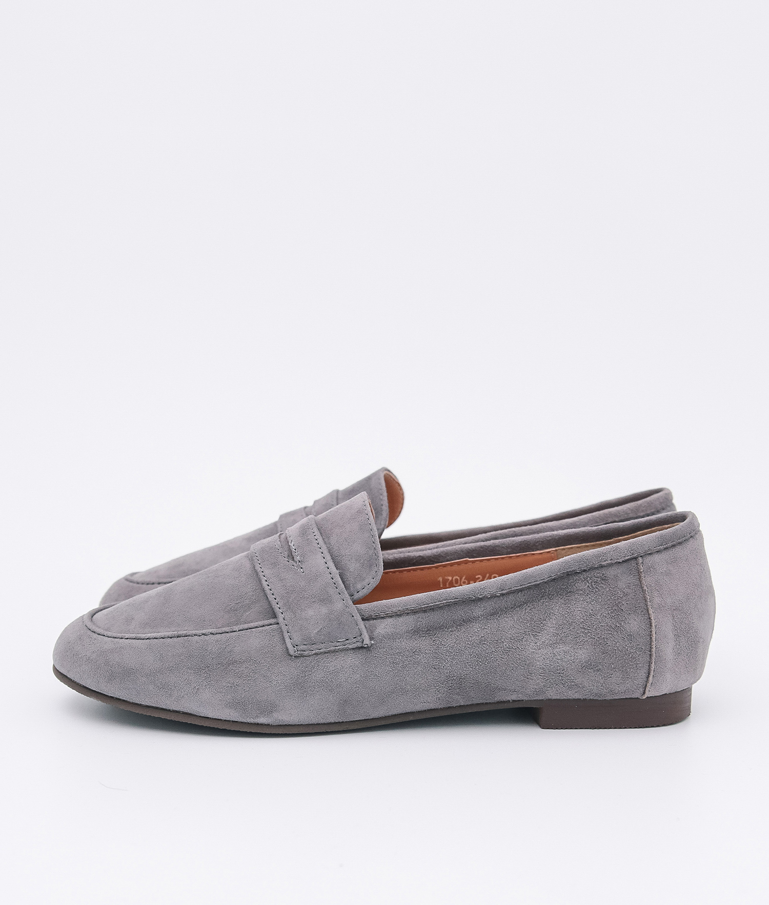 3c23e4a7999 AnnaKastle Womens Cute Suede Penny Loafers Gray