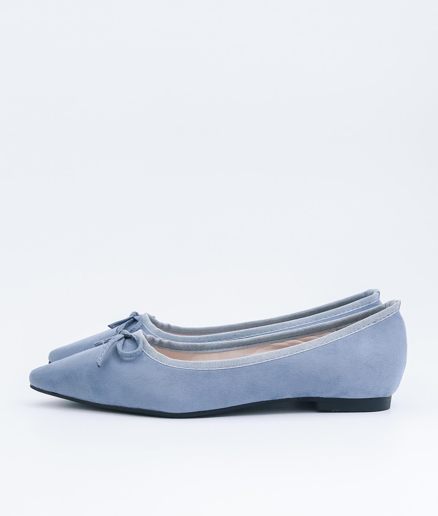 a7055c89015 AnnaKastle Womens Cute Bow Pointed Toe Ballerina Flats Blue