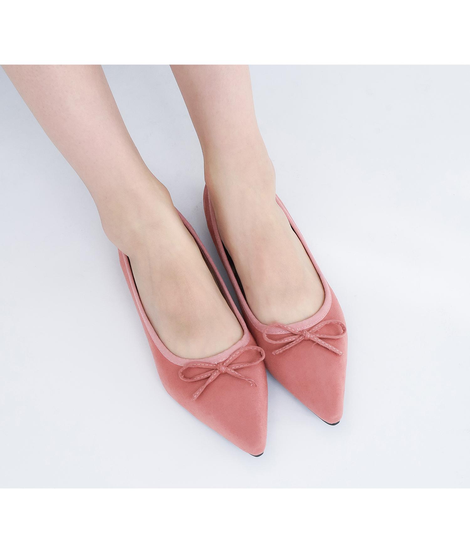 3037775013899 Cute Bow Pointed Toe Ballerina Flats