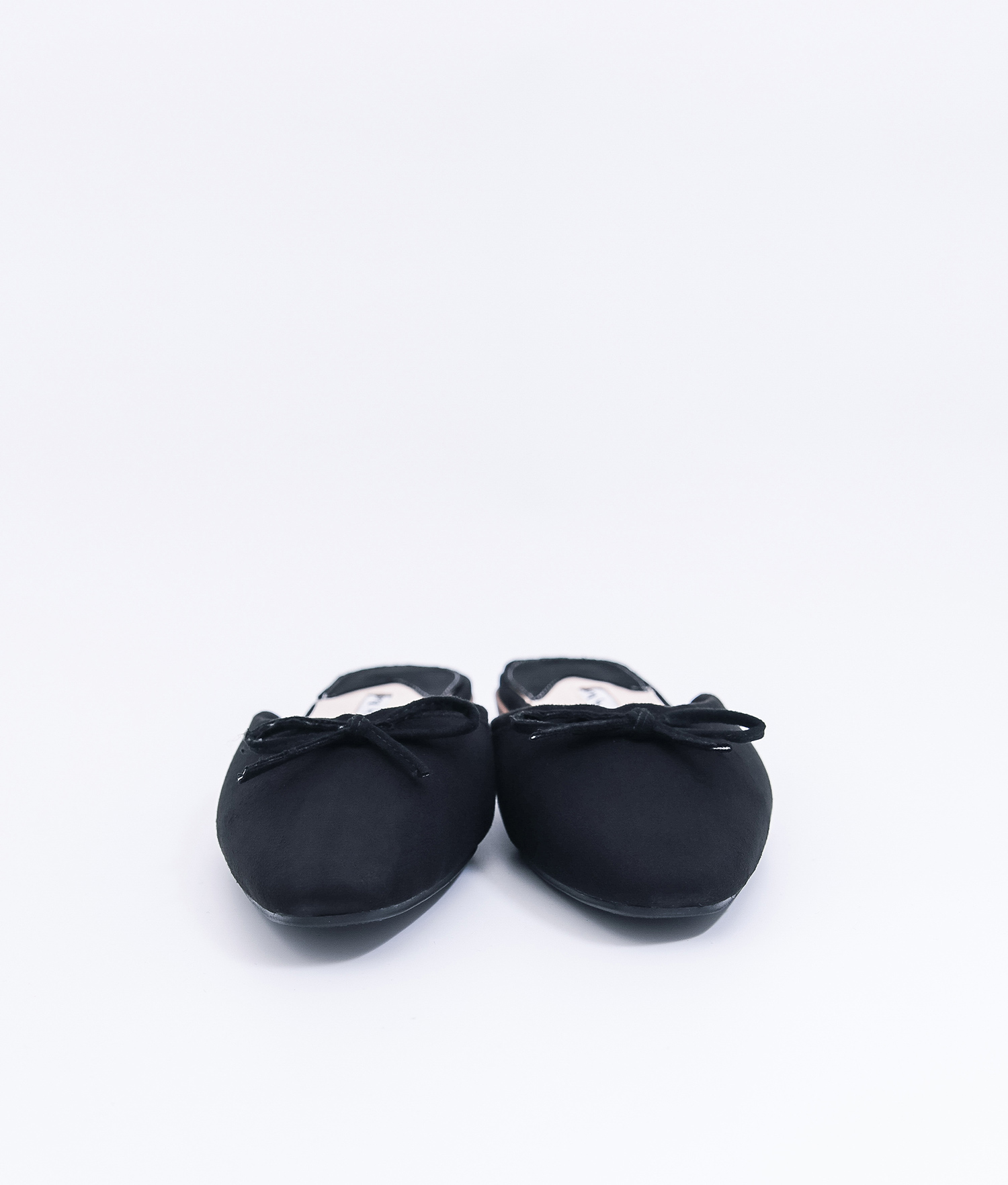 08bb4826e1b47 AnnaKastle Womens Bow Front Pointed Toe Mule Slippers Black