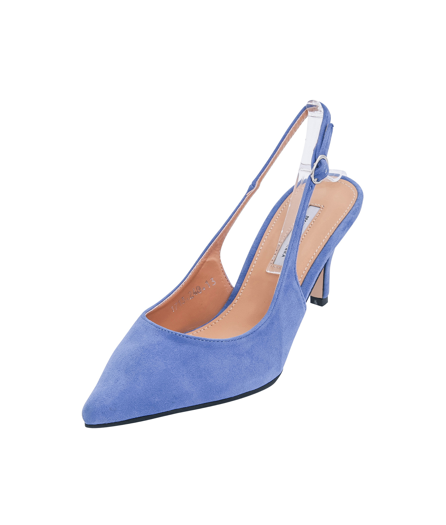 99b8c6085dc AnnaKastle Womens Pointy Closed Toe Slingbacks Blue