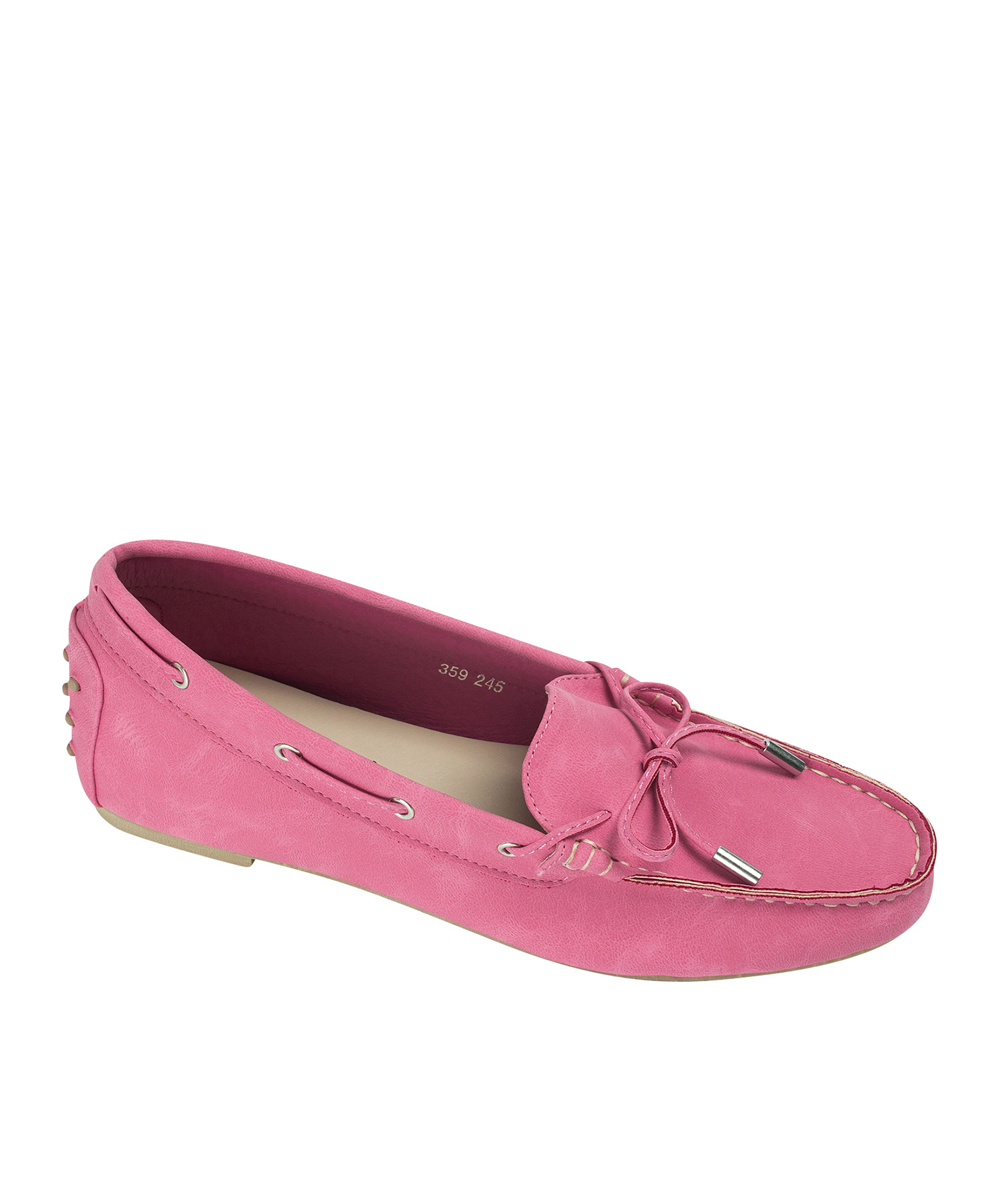 e7479cb23e3 AnnaKastle Womens Vegan Leather Driving Moc Loafers Hot Pink