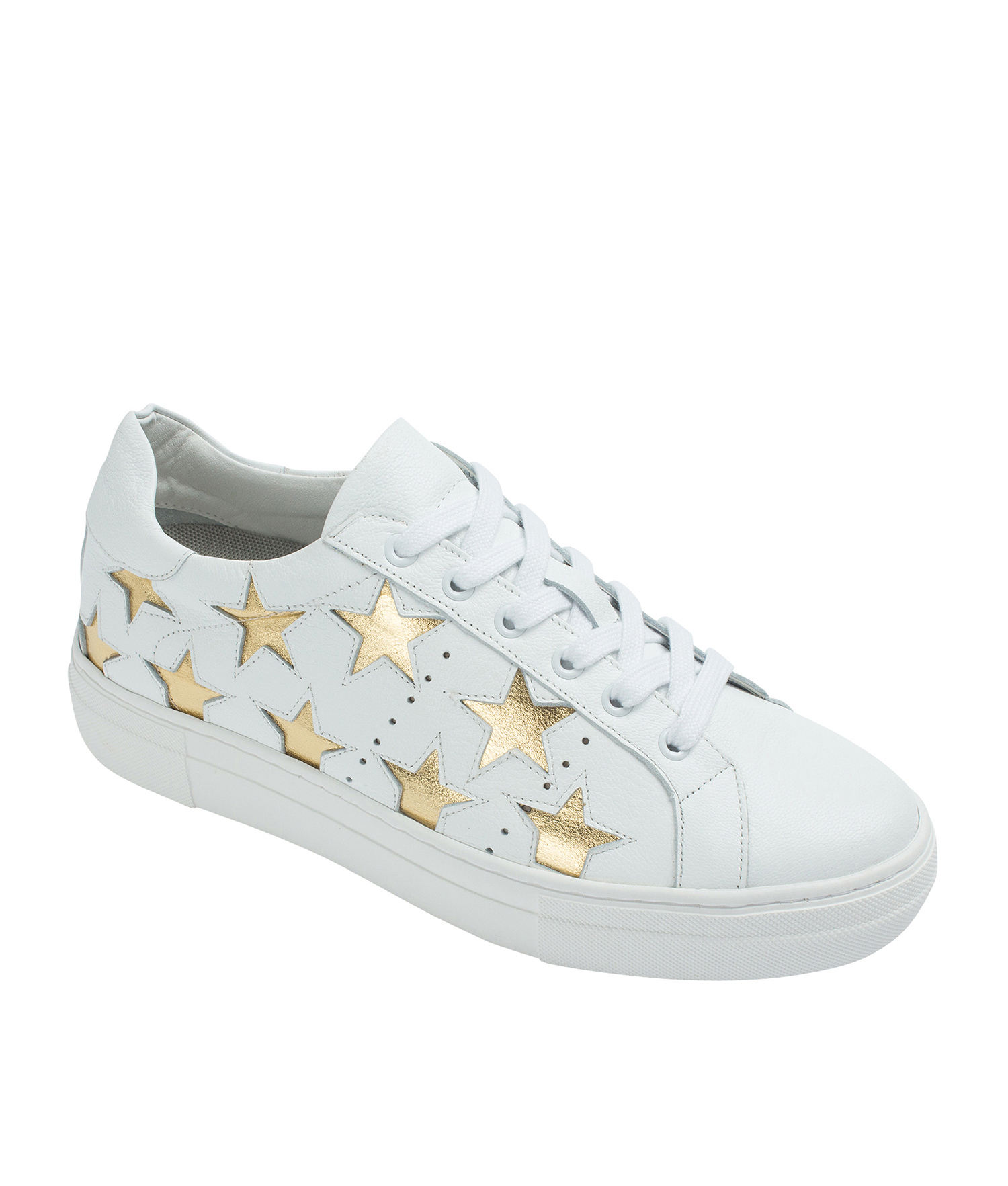white sneakers with gold Online
