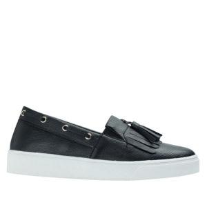 3fe0975ff72 AnnaKastle Womens Kiltie Tassel Loafer Sneakers Black