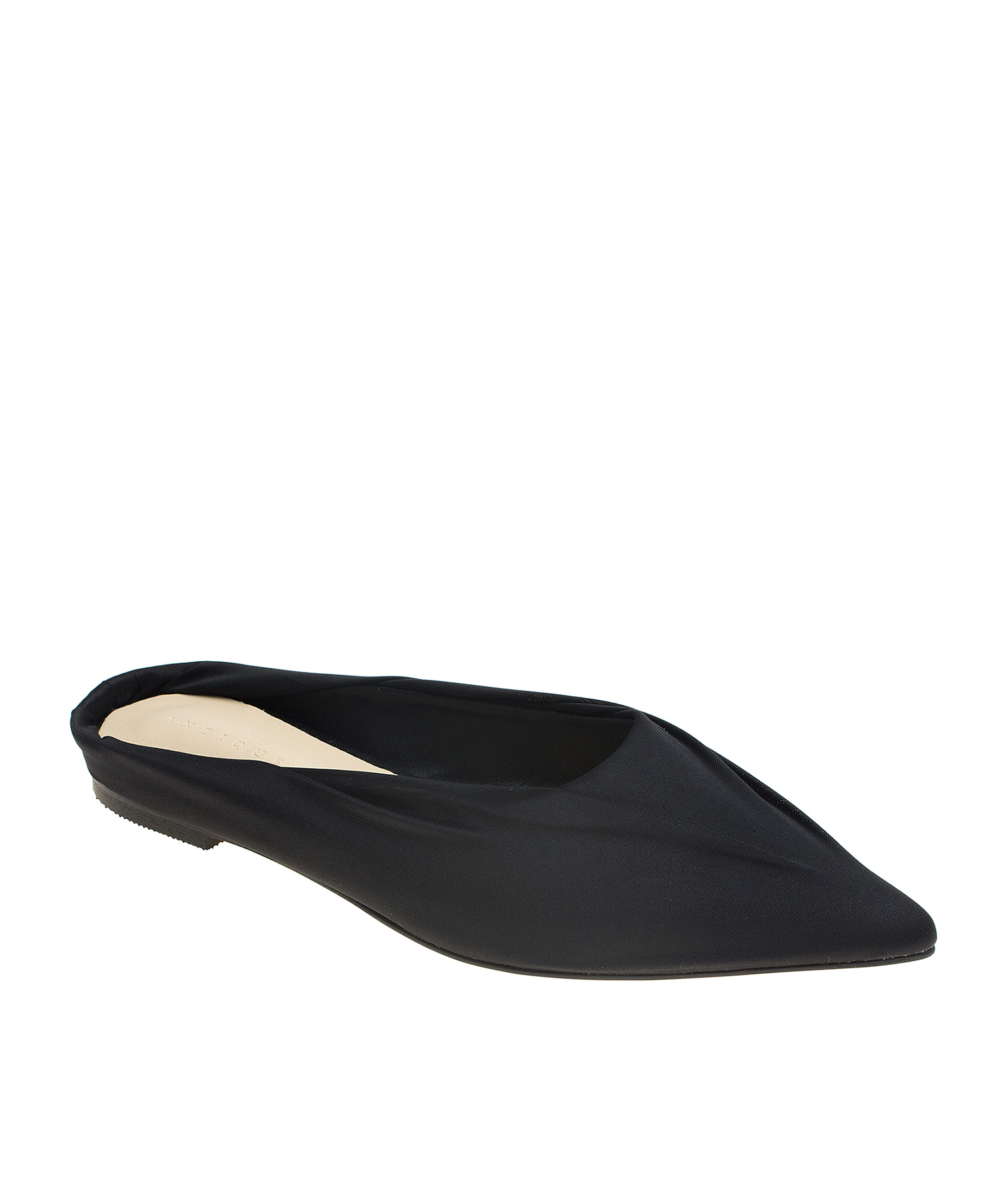 0242664fde12 Pointy Toe Soft Fabric Covered Dress Mules - annakastleshoes.com