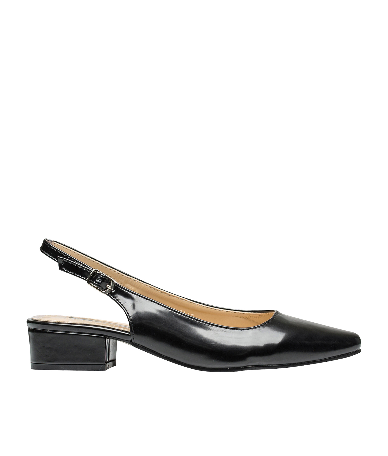 184de21a00c AnnaKastle Womens Pointy Toe Slingback Low Heel Pumps Black