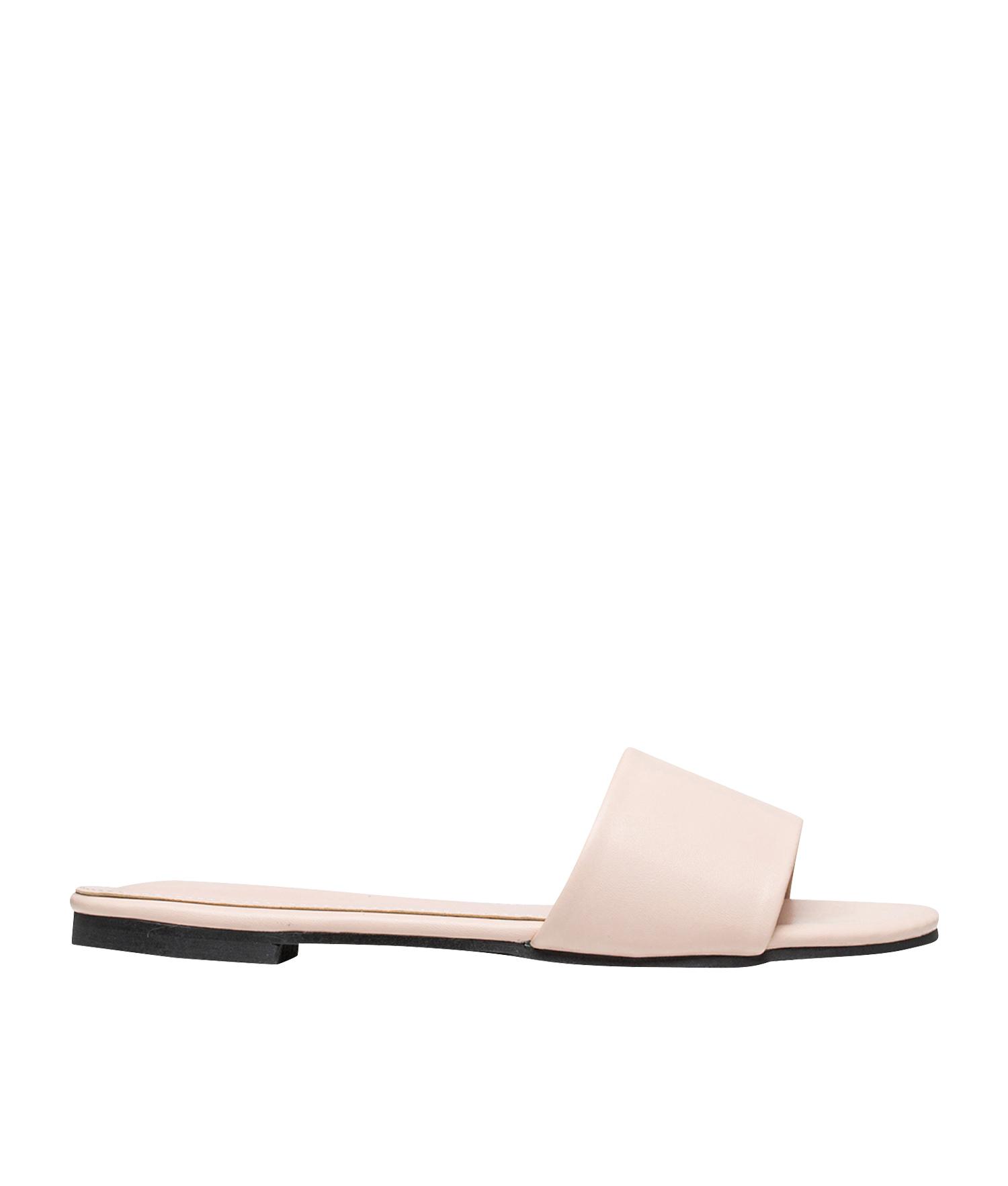 9ee82b8838d AnnaKastle Womens Vegan Leather One Strap Slide Sandals Pink