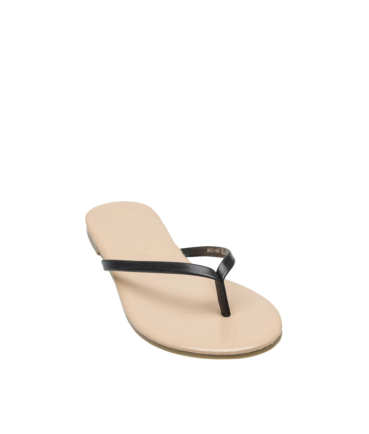68a78faca AnnaKastle Womens Dorie Simple Flip Flop Shoes Black