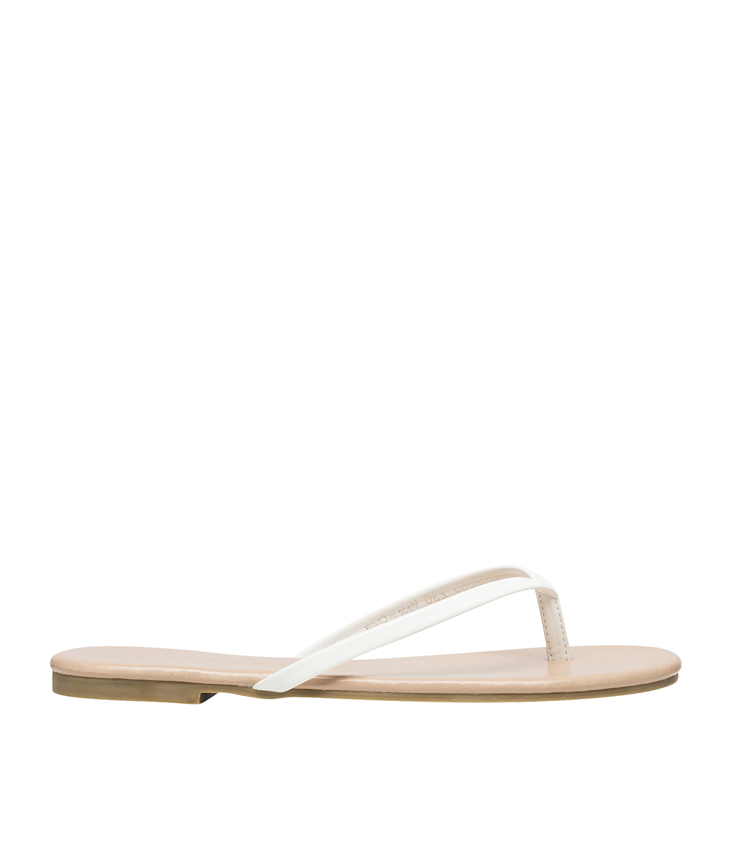 a264c5502 AnnaKastle Womens Dorie Simple Flip Flop Shoes White