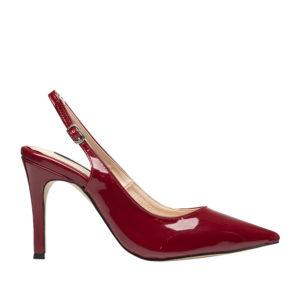 53b6ee5118acd AnnaKastle Womens Patent Slingback High Heel Pumps Red ...