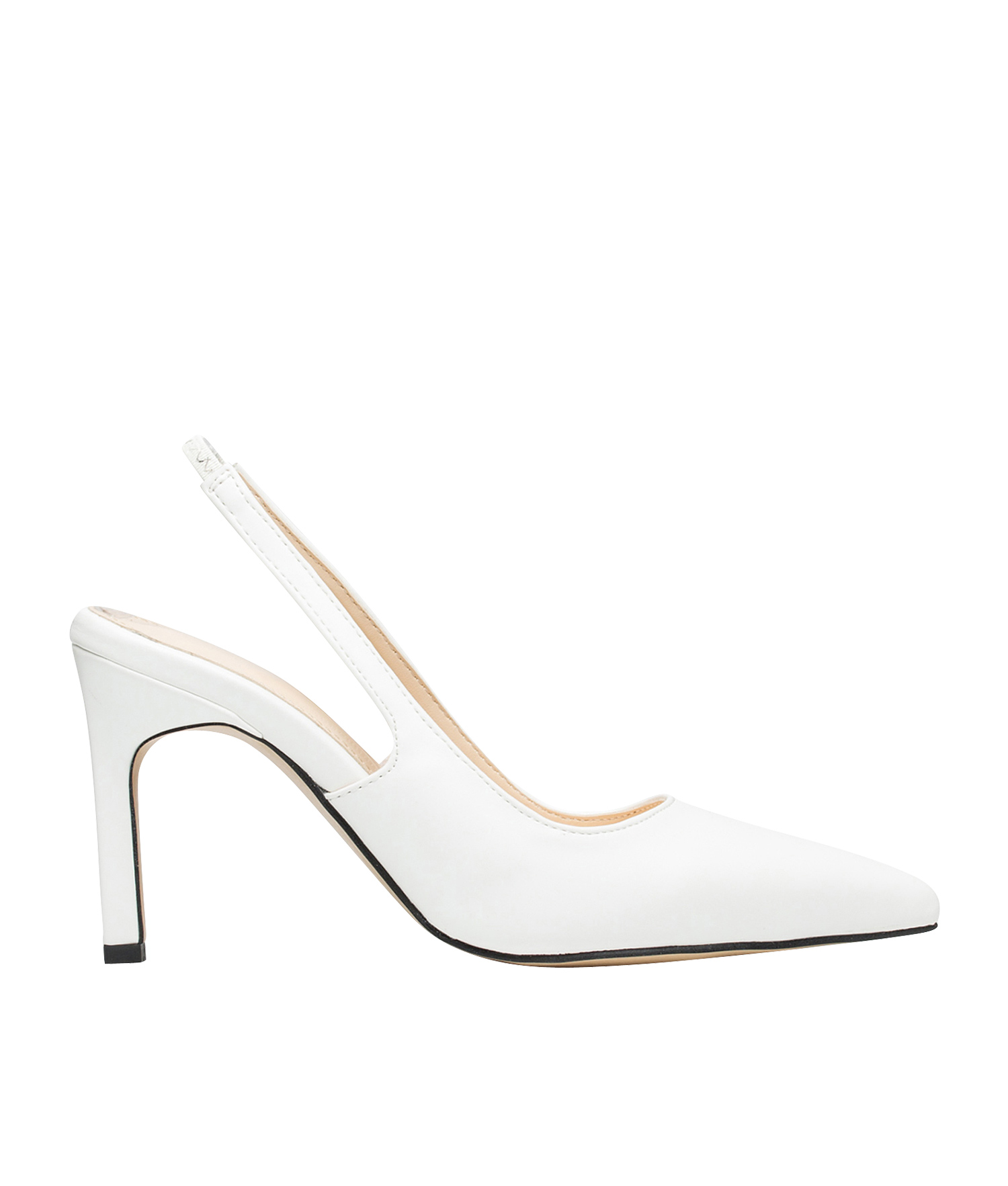 f09936a27ed8 AnnaKastle Womens Sleek Closed Toe Slingback Heels White