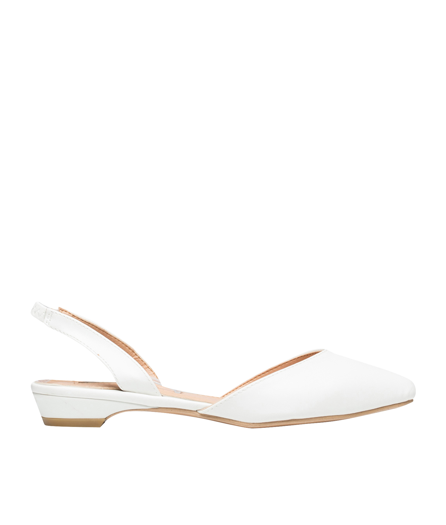0def4f3c6bee AnnaKastle Womens Pointy Toe d Orsay Slingback Flats White