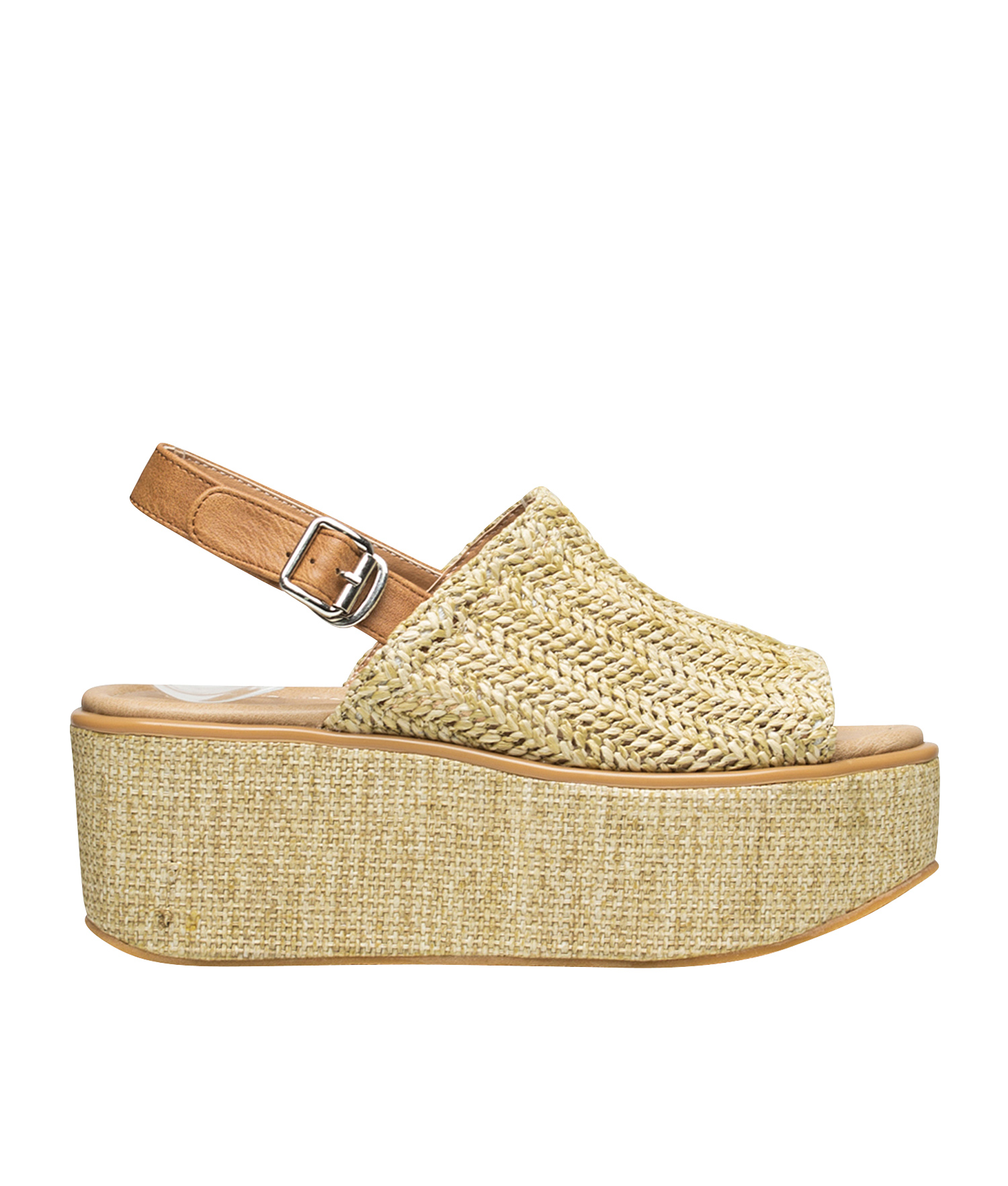 b4885c9afeff AnnaKastle Womens Woven Slingback Platform Sandals Beige