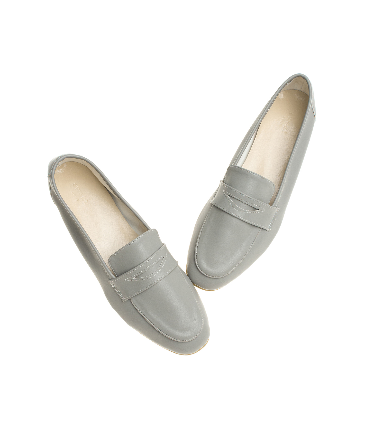 cc18ee7c40e AnnaKastle Womens Malva Vegan Leather Penny Loafers Gray