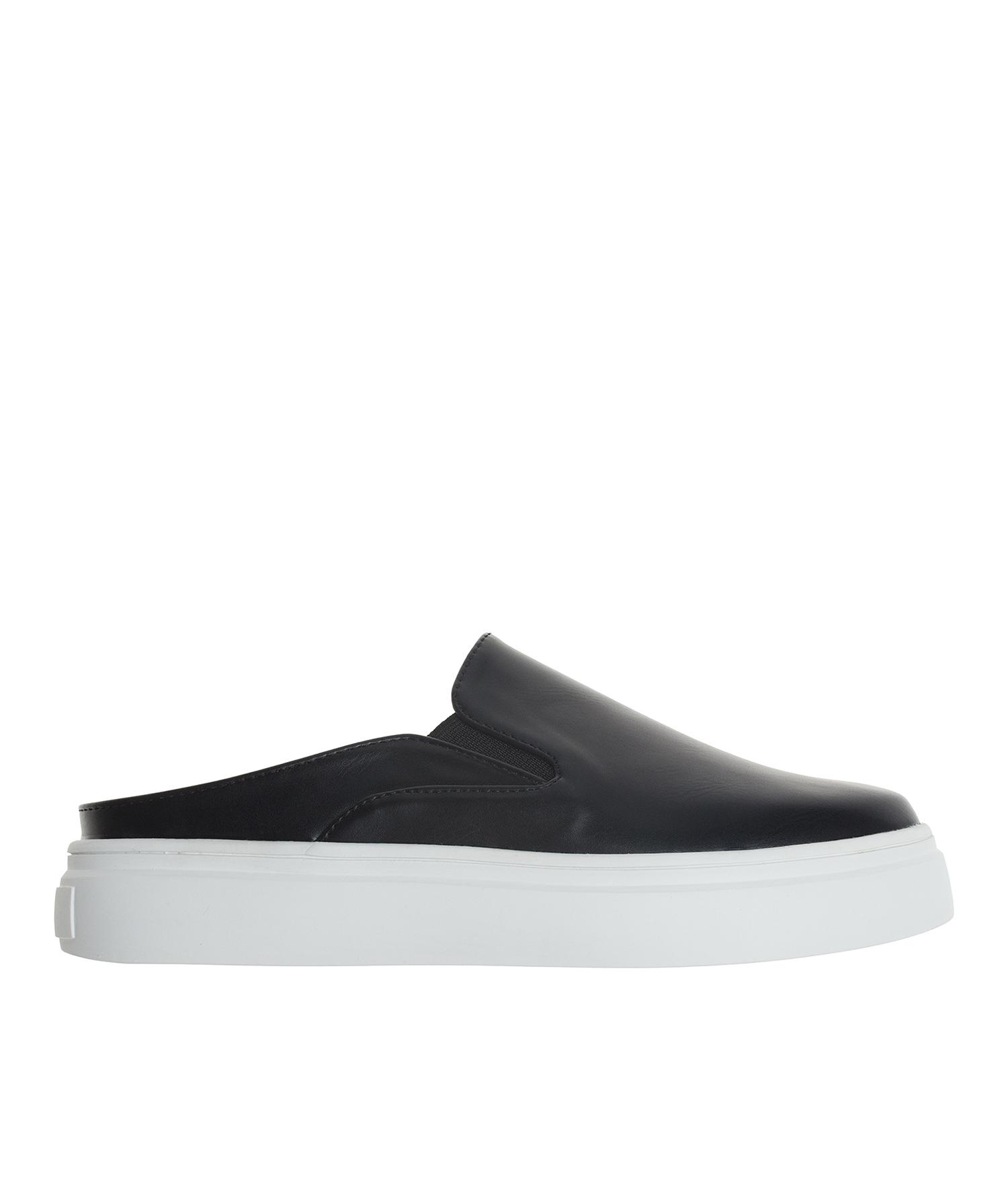 07d8d804b0a0 AnnaKastle Womens Vegan Leather Slip On Mule Sneakers Black