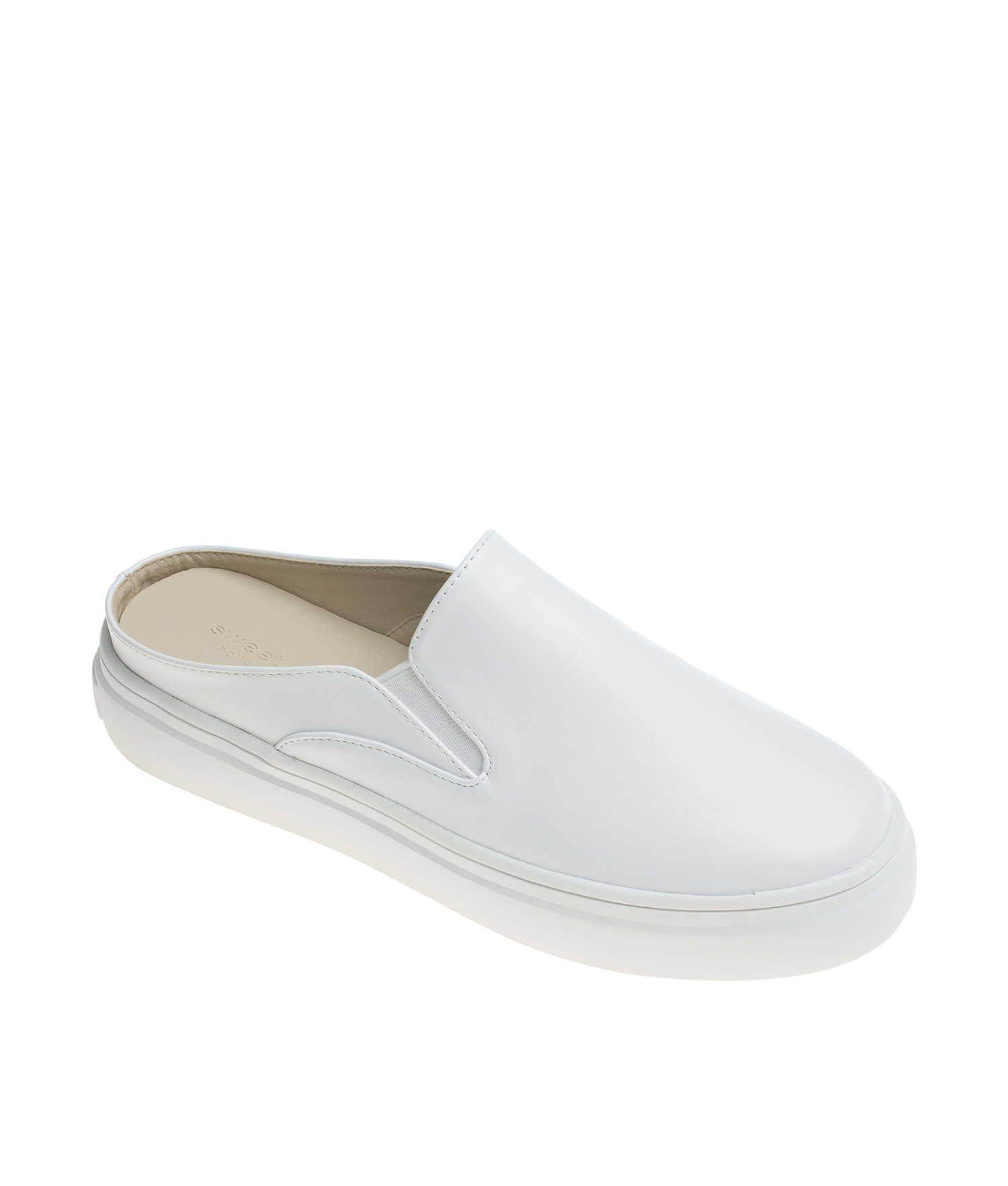 nice shoes usa cheap sale new high Vegan Leather Slip On Mule Sneakers