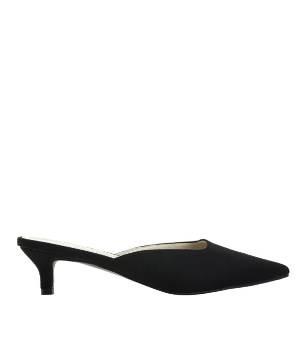 699c72ceef7 AnnaKastle Womens Pointy Toe Kitten Heel Mule Dress Shoes Suede Black