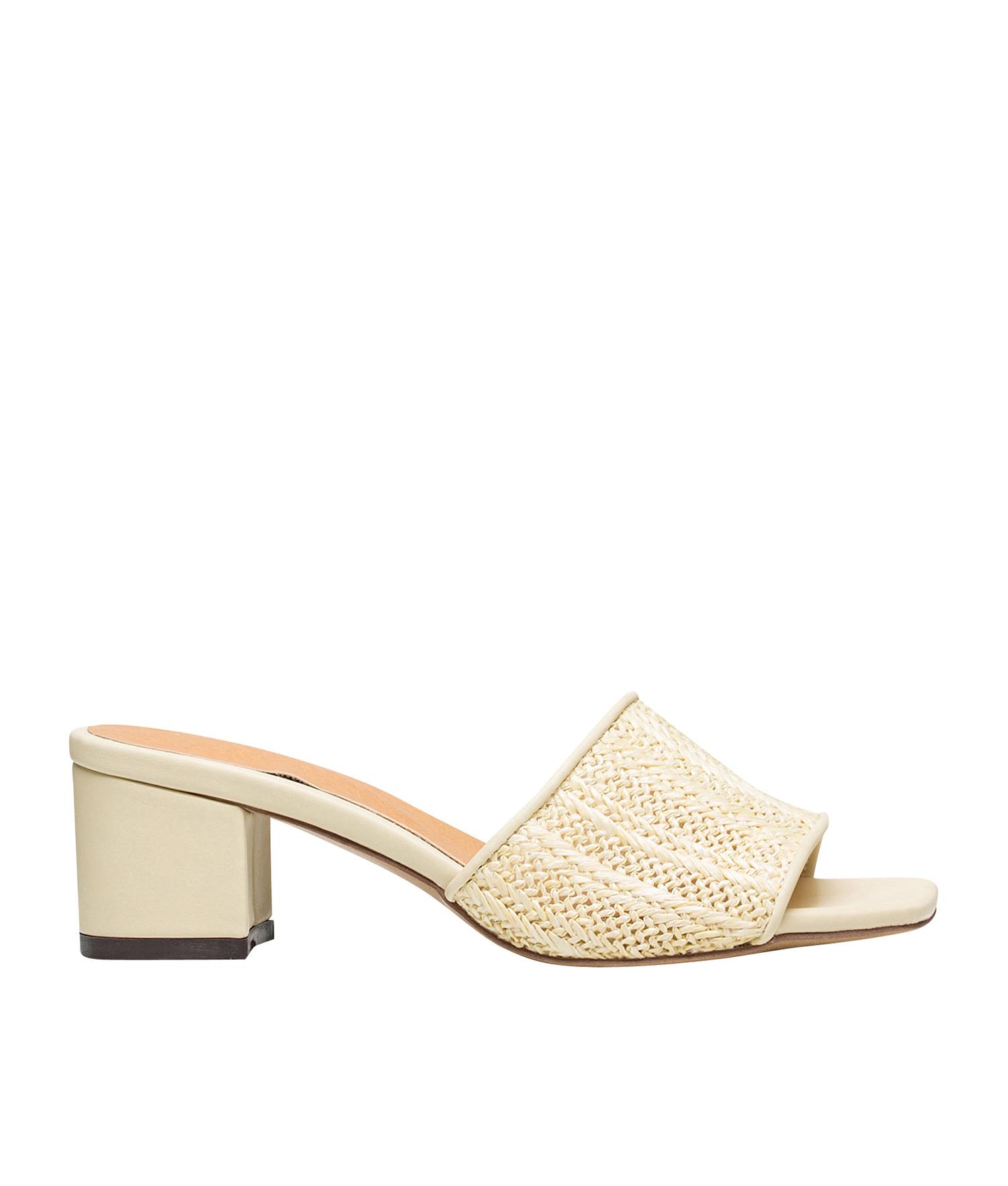 f526925f0e217 AnnaKastle Womens Natural Woven Slide Mule Heel Sandal Beige