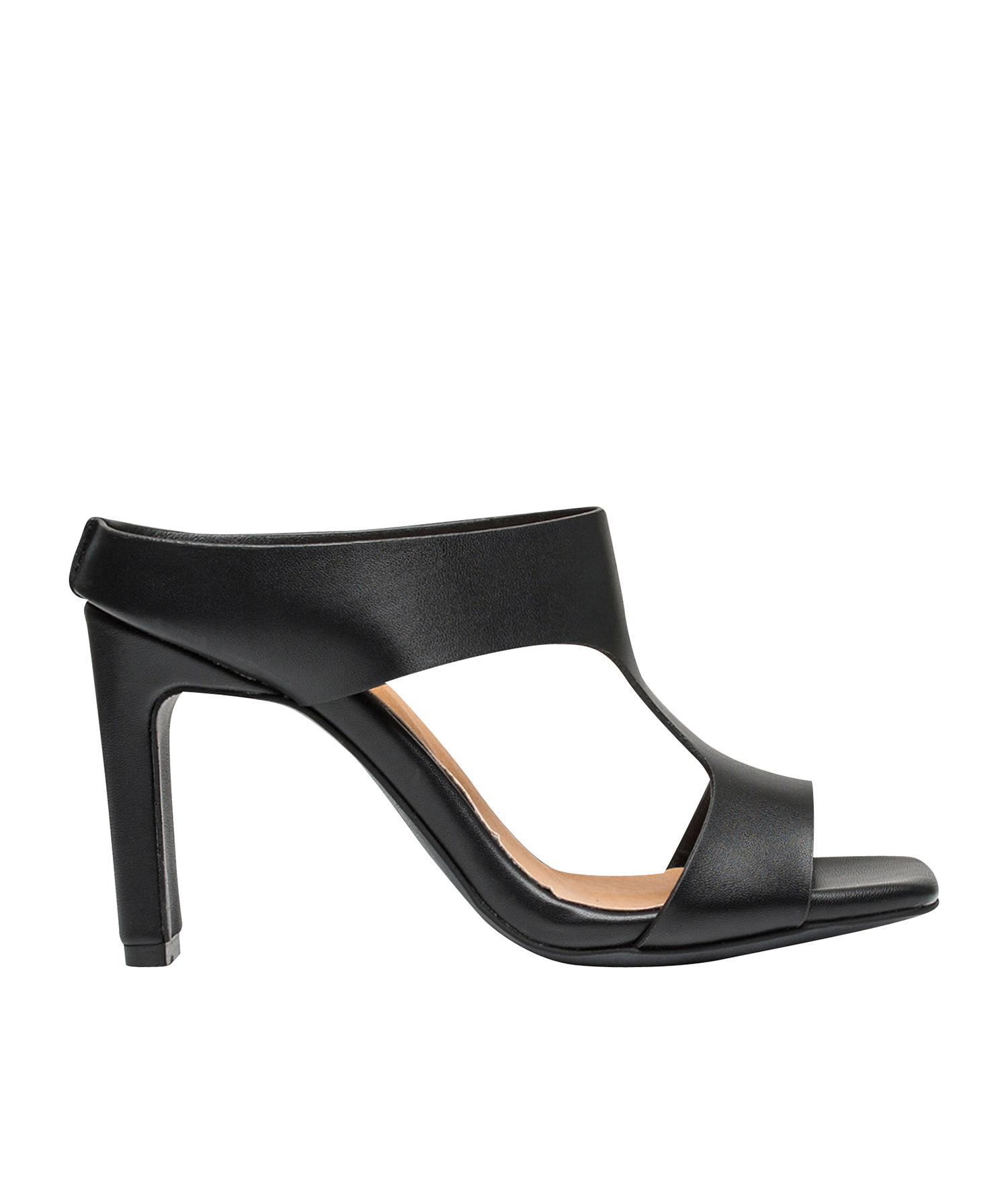 a9131d85f64383 AnnaKastle Womens Cut-Out Slide Heel Mule Dress Sandal Black