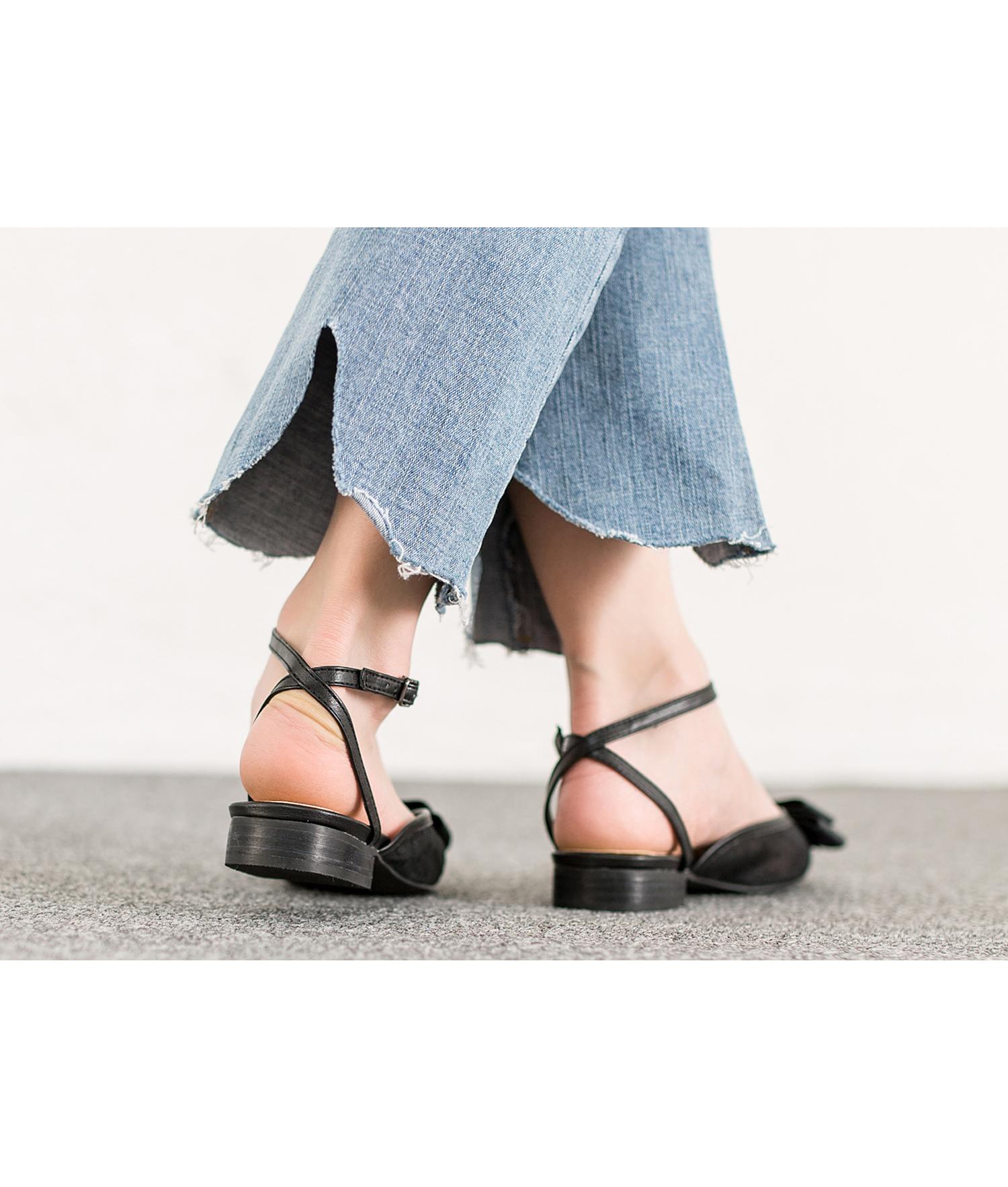 03d1af38716 AnnaKastle Womens Big Bow Ankle Strap Flat Sandals Black