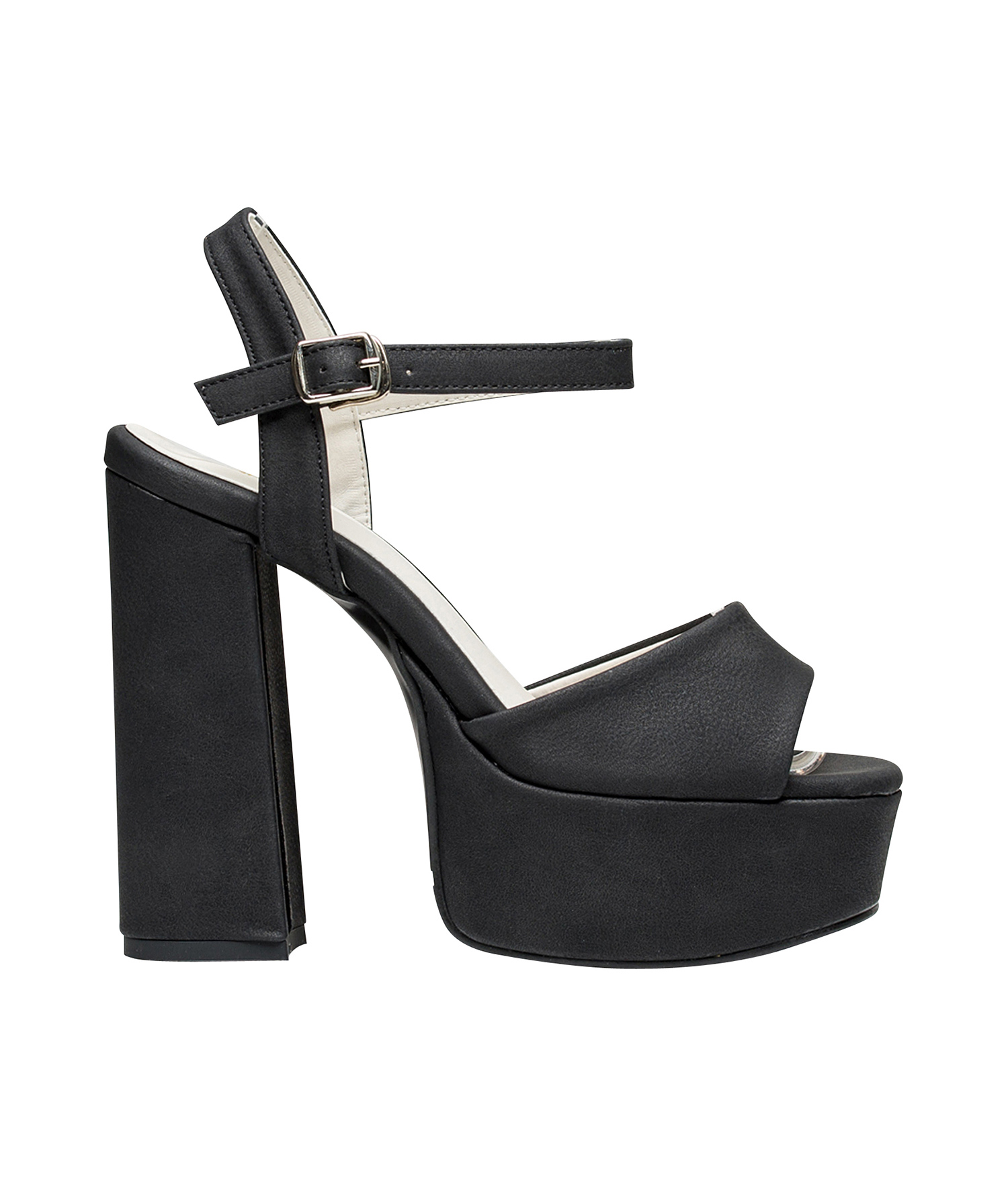 AnnaKastle Womens Ankle Strap High Platform Chunky Heel Sandals Black acab9d3f6