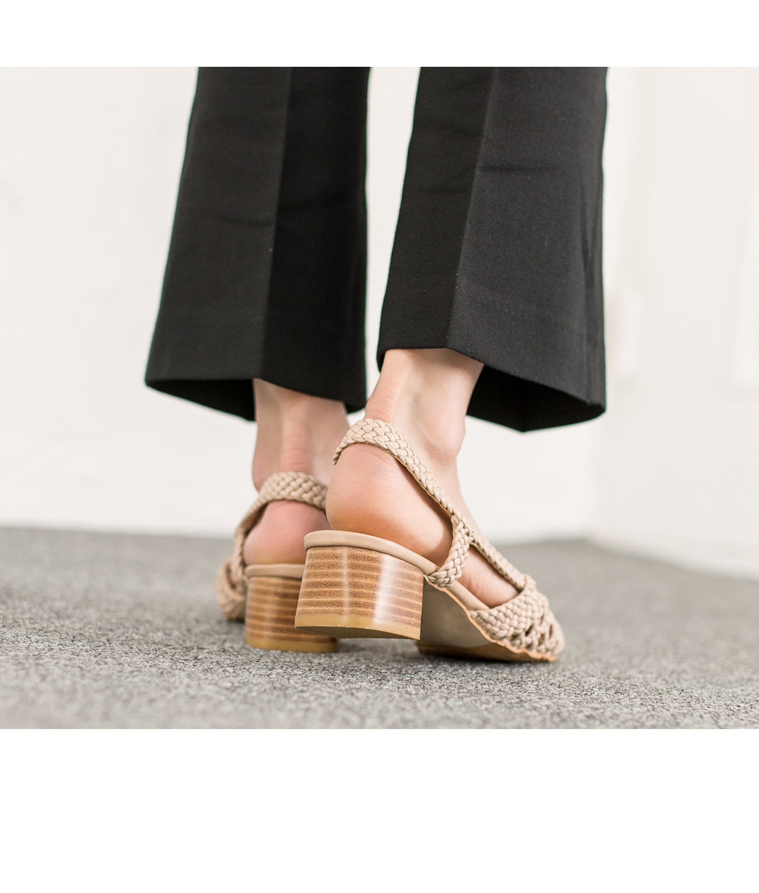 03ccbcf055226 ... Yeviavy Feet  AnnaKastle Womens Leather Braided Woven Slingback Sandals  Beige factory outlets cd145 86539 ...