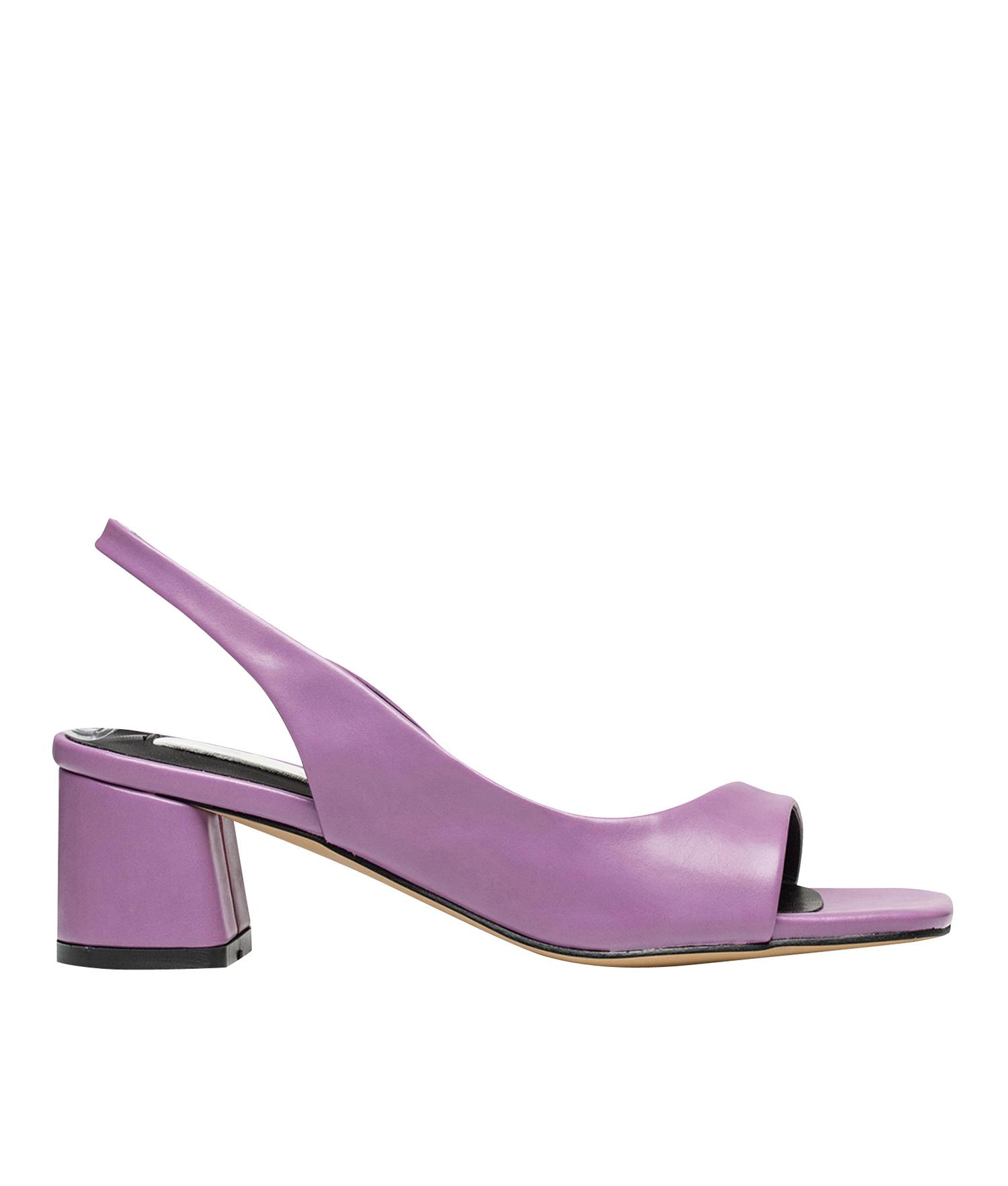 3af5f3ffd5c AnnaKastle Womens Dorsay Slingback Low Heel Dress Sandals Purple