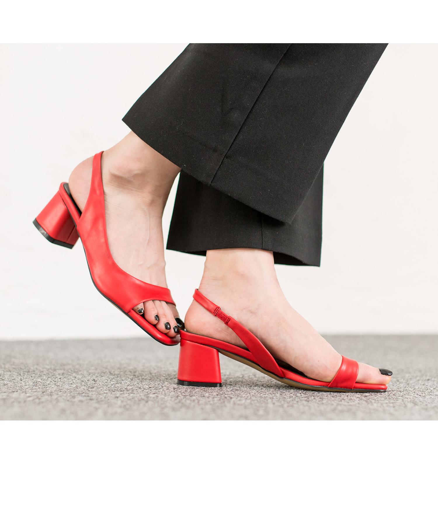 1814d70b2ba7e AnnaKastle Womens Dorsay Slingback Low Heel Dress Sandals Red in stock  d2a67 f1405 ...