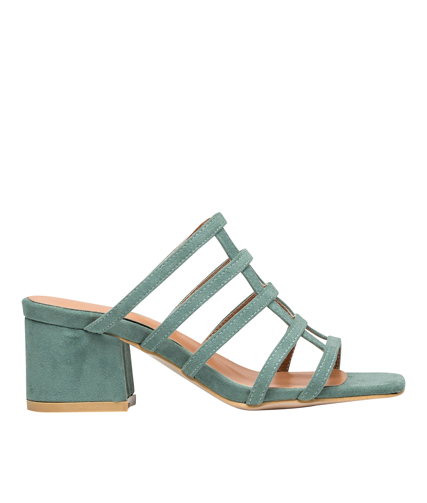 daa18a8766c AnnaKastle Womens Suede Cut Out Strappy Mule Slipper Sandals Mint