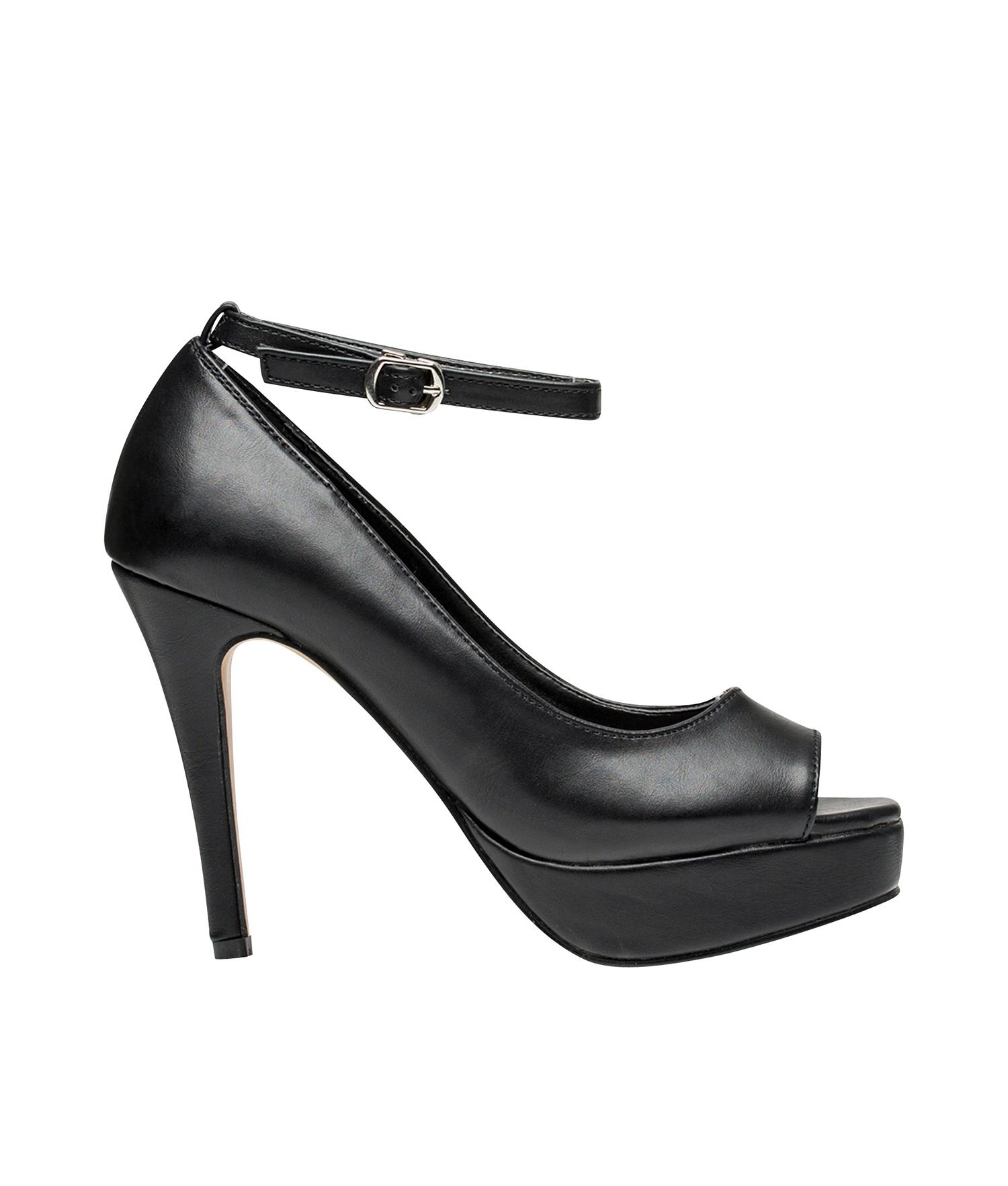 264849cb599 AnnaKastle Womens Peep Toe Platform Stiletto Heel Pumps Black