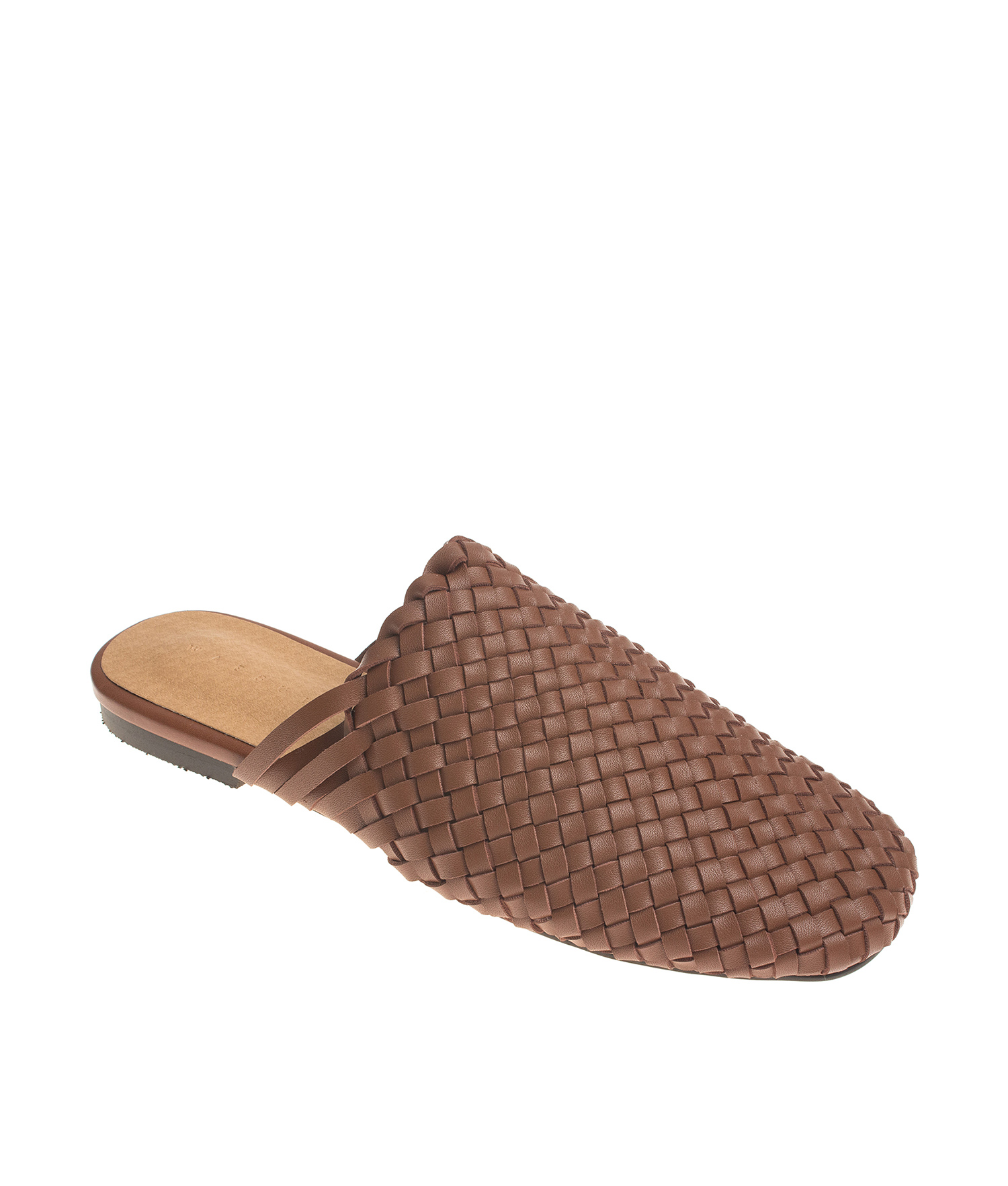 a5768246e6d9 AnnaKastle Womens Sana Woven Vegan Leather Slippers Brown