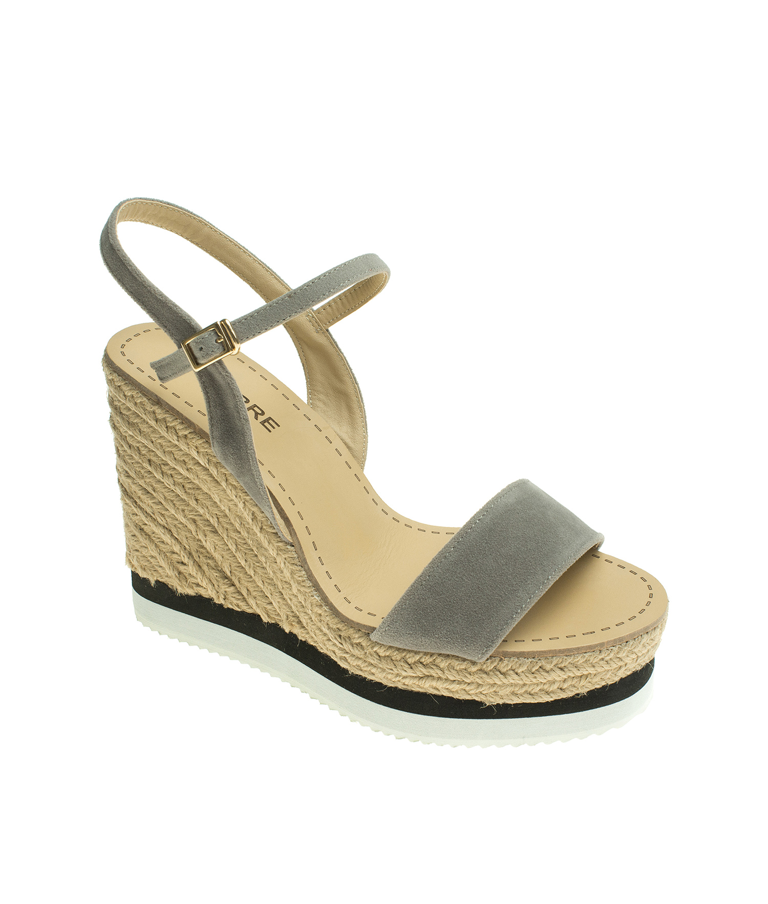 ce72d0f5c65 Suede Ankle Strap Espadrille Wedge Sandal