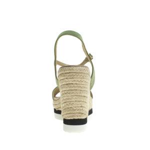 1cedb1f67e33 AnnaKastle Womens Suede Ankle Strap Espadrille Wedge Sandal PaleGreen