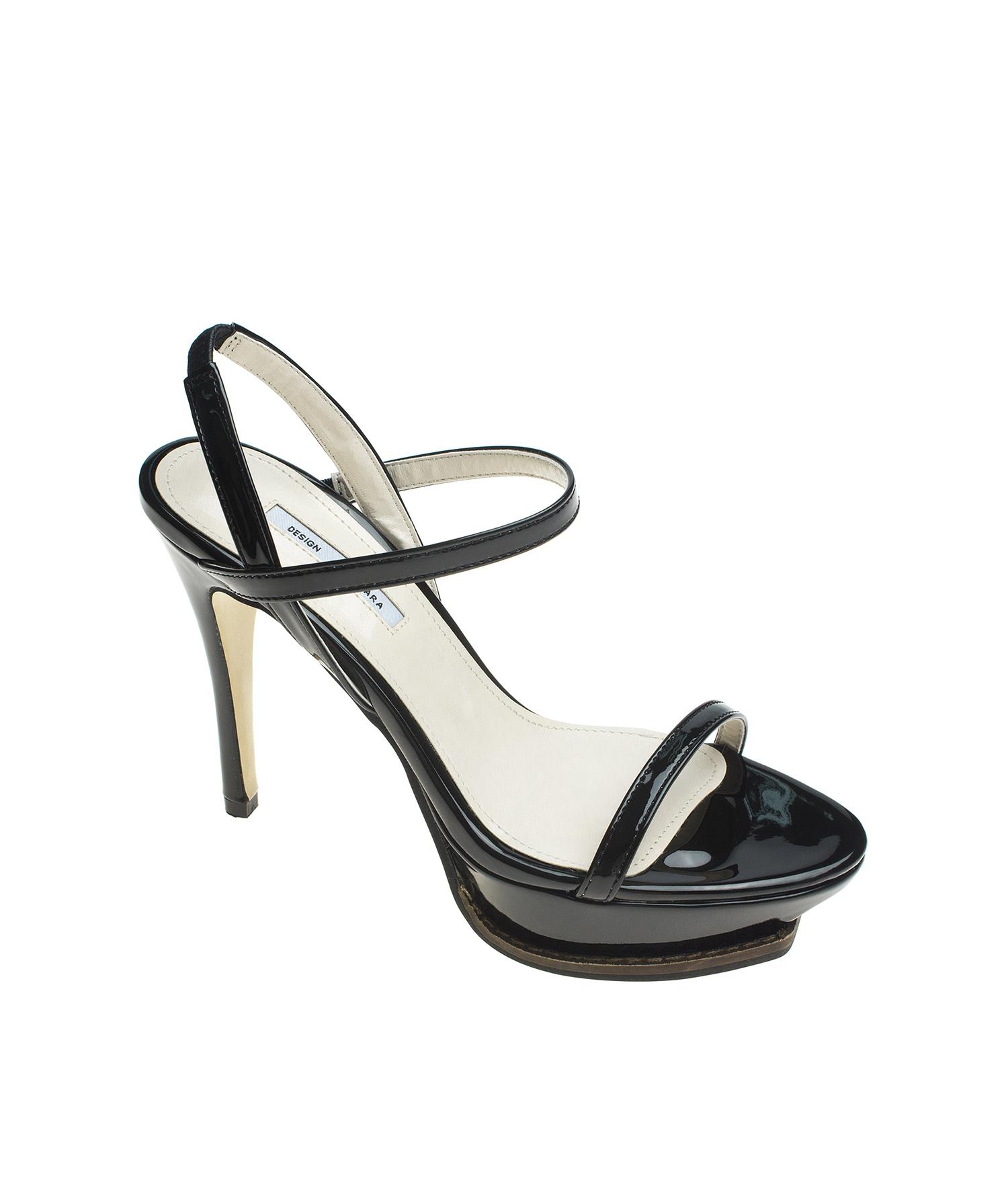 3302d90c7d4 AnnaKastle Womens Patent Stiletto Heel Sandals Dress Shoes Black