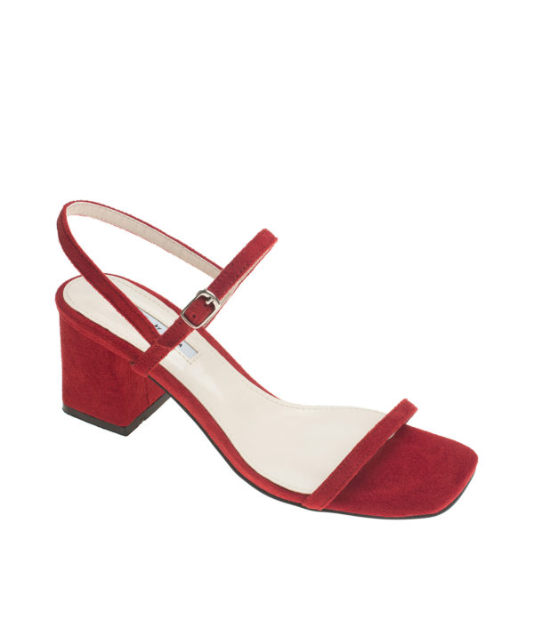 ef8367c03e3 Suede Ankle Strap Block Heel Sandals