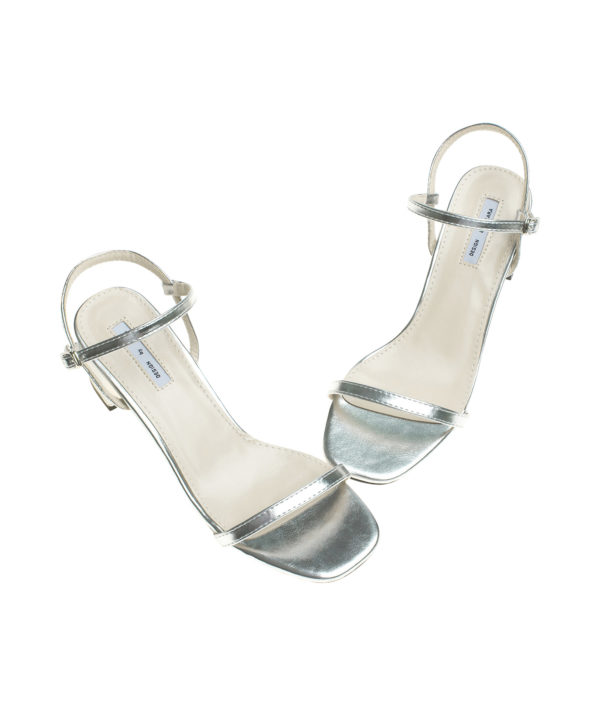d7958c3435f3 AnnaKastle Womens Patent Ankle Strap Block Heel Sandals Silver