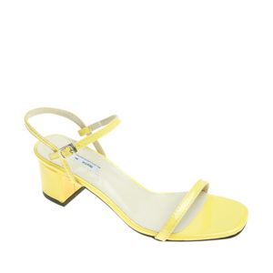 9b218b1a1436 AnnaKastle Womens Patent Ankle Strap Block Heel Sandals Yellow ...