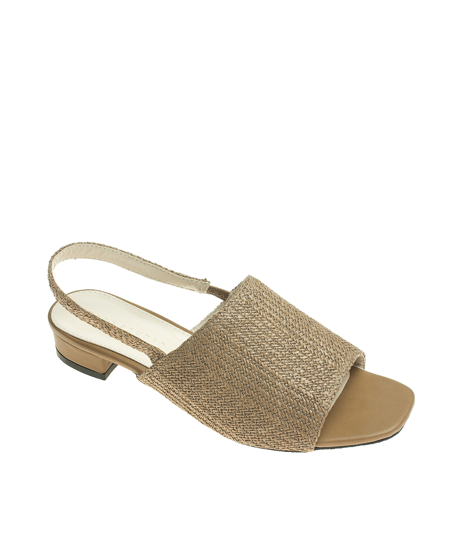 39c1e7e6ad412 AnnaKastle Womens Natural Color Open Toe Woven Slingback Flat Mule Sandals  LightBrown