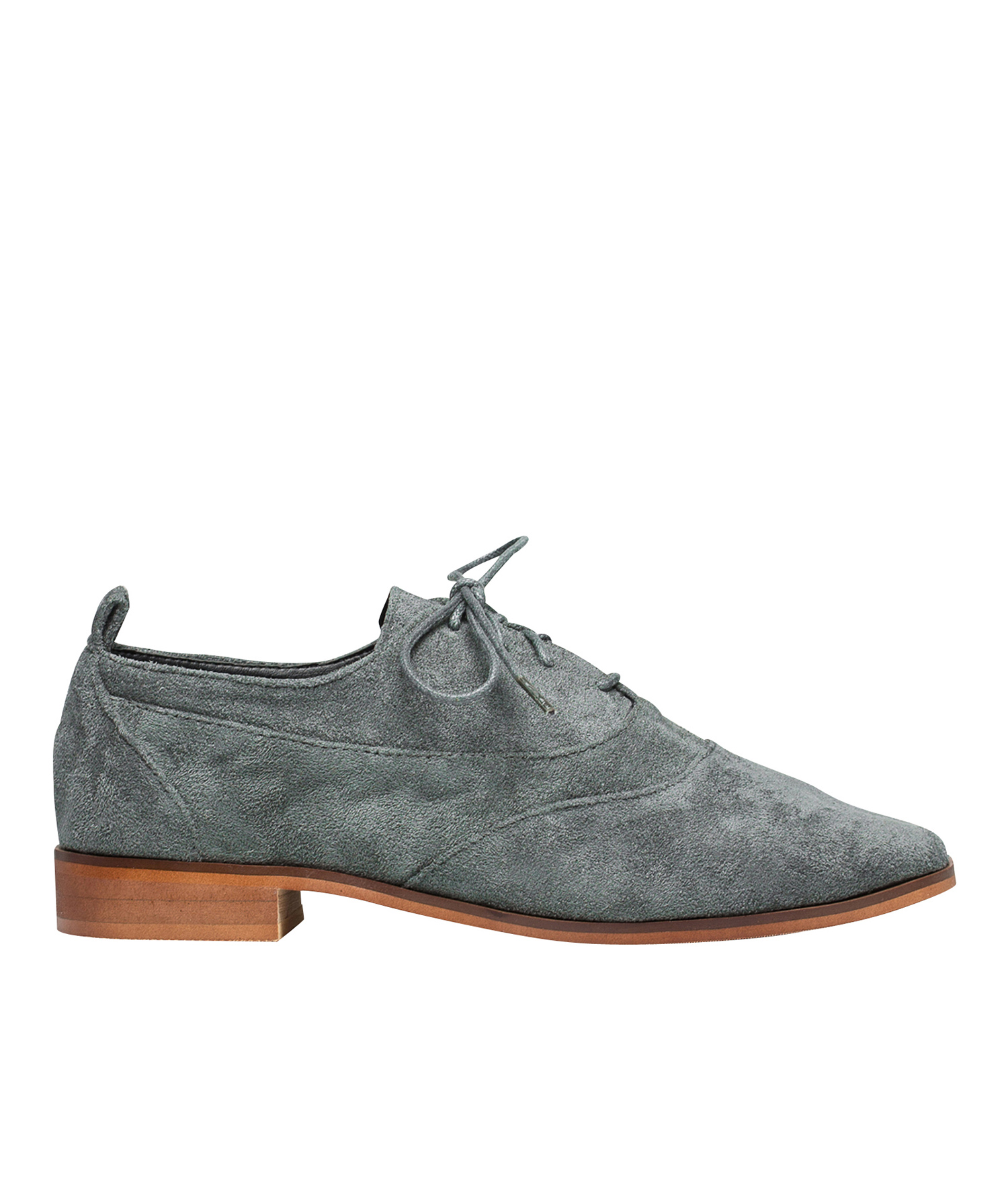AnnaKastle Womens Vegan Suede Lace Up Oxfords Gray 19229b525