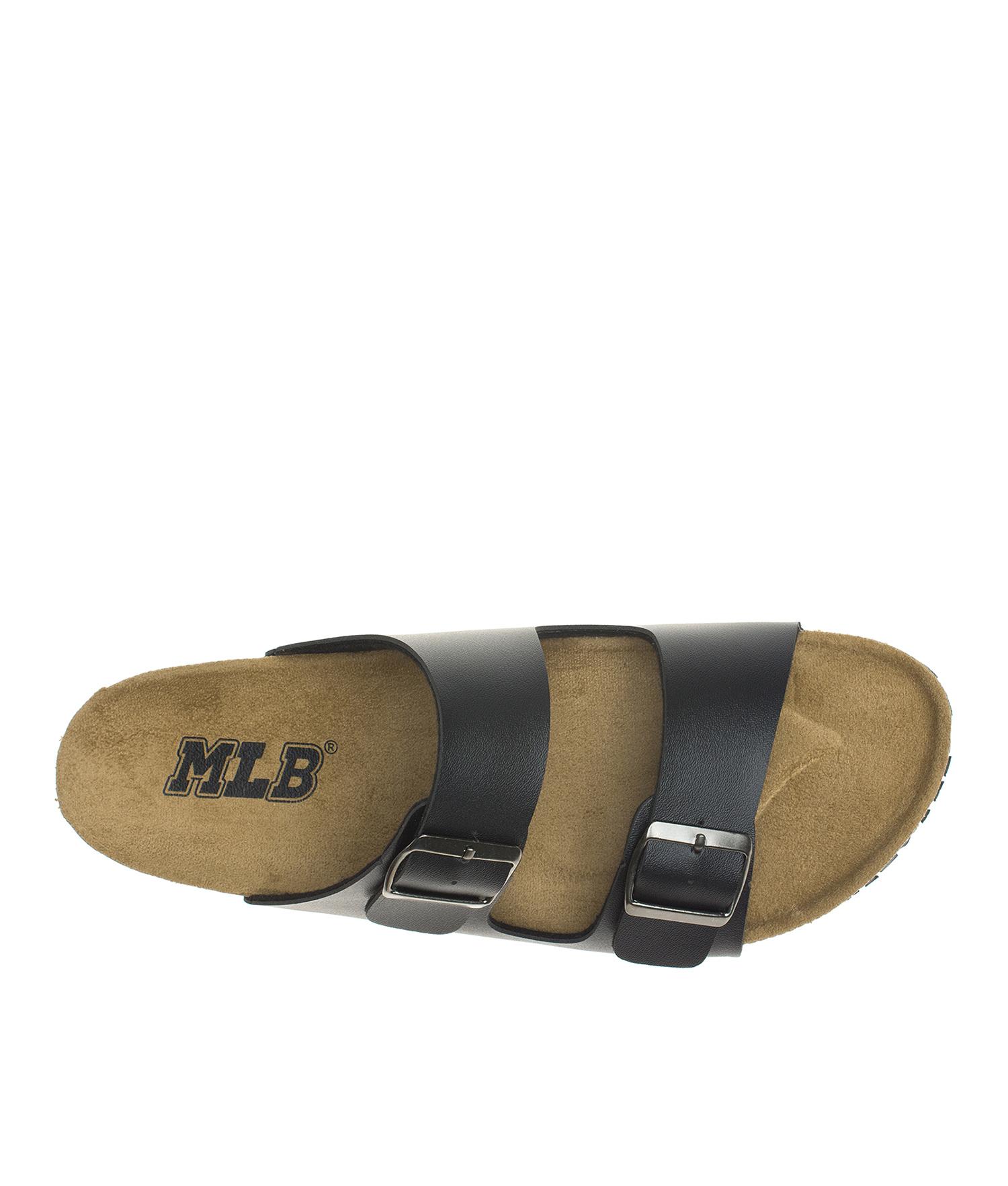 3b2ae5971638b AnnaKastle Womens Double Strap Silde Flat Sandals Black