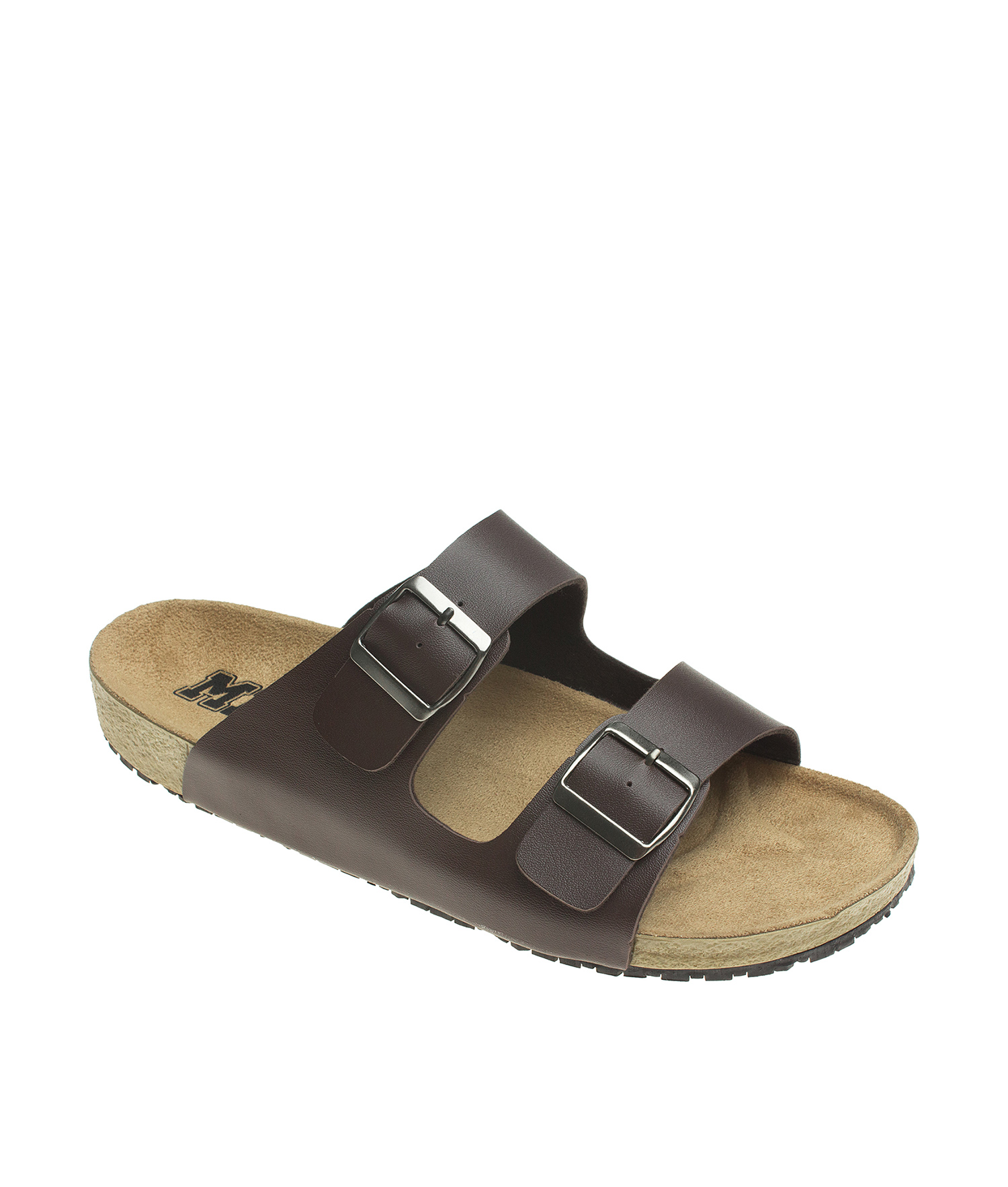 8a6c719c6a101 AnnaKastle Womens Double Strap Silde Flat Sandals Brown