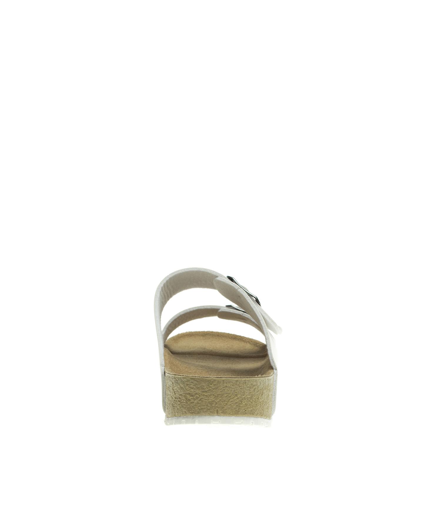 b68a3b0567bf9 AnnaKastle Womens Double Strap Silde Flat Sandals White