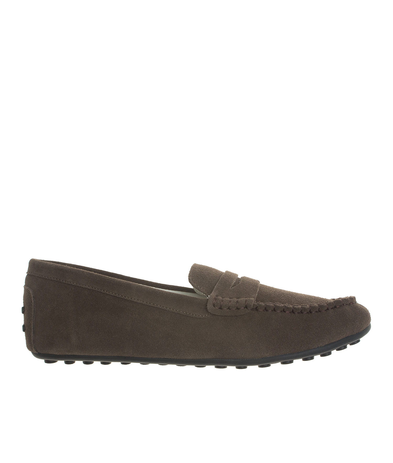 Vintage Land Rover Mens Loafer Driving Moccasin Brown: Classic Suede Leather Driving Shoes Penny Loafer Moccasin