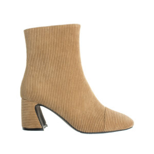top-rated professional footwear select for genuine Corduroy Heeled Ankle Boots