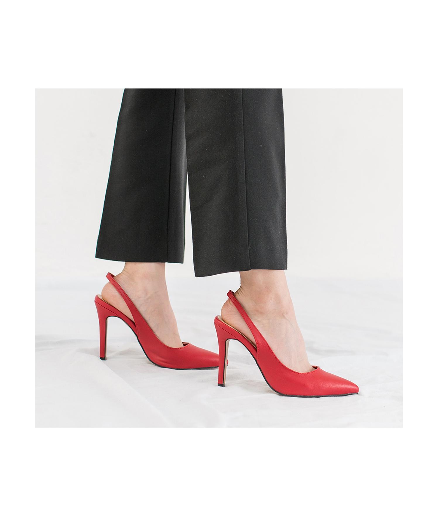 Red Slingback Heels