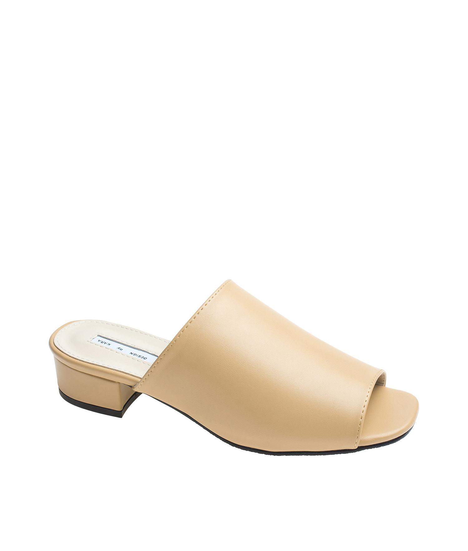 877fe13fd74 Low Heel Mule-Like Sandals