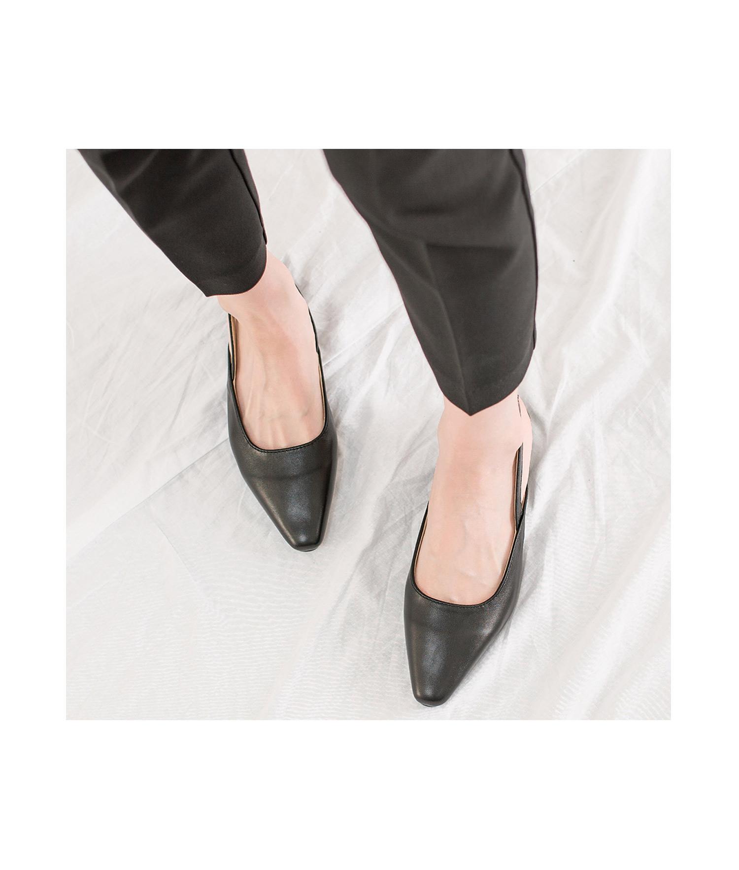 5677314e094c0 AnnaKastle Womens Pointy Toe Low Heel Slingback Pumps Black