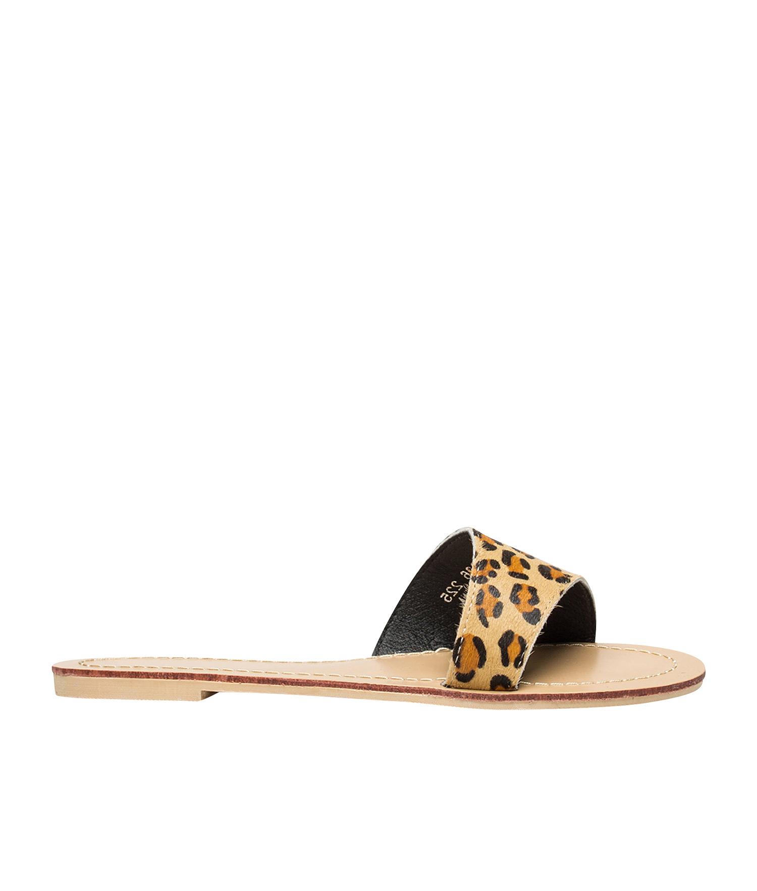 anna leopard sandals
