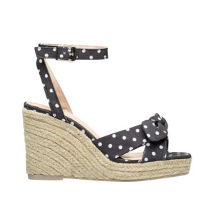 53a8f037f AnnaKastle Womens Knotted Bow Front Espadrille Wedge Sandals Black + Dot ...